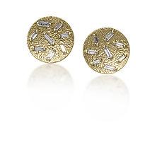 Ice Diamond Post Earrings by Elizabeth Garvin (Gold, Silver & Stone Earrings)