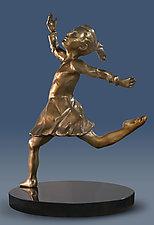Dancing Girl by Dina Angel-Wing (Bronze Sculpture)