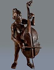 Bass Musician by Dina Angel-Wing (Bronze Sculpture)