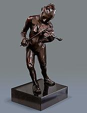 Violin Musician by Dina Angel-Wing (Bronze Sculpture)