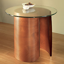 Spiral End Table by Richard Judd (Wood End Table)
