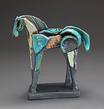 Tribute Series, Spring Step by Jeri Hollister (Ceramic Sculpture)