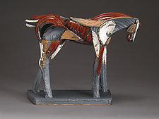 Scarlet Answer by Jeri Hollister (Ceramic Sculpture)