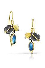 Sophisticated Urban Blossom Earrings by Christine Mackellar (Gold, Silver & Stone Earrings)