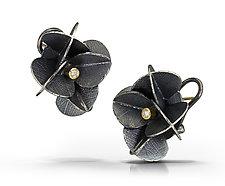Lace Cap Blossom Studs by Christine Mackellar (Diamond, Gold & Silver Earrings)