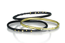 Diamond Autus Bangle Bracelets by Christine Mackellar (Gold, Silver & Stone Bracelets)