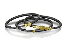 Stepping Stone Path Bracelets by Christine Mackellar (Gold & Silver Bracelet)