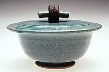 Covered Bowl by Jan Schachter (Ceramic Bowl)
