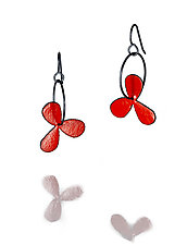 Wildflower Earrings by Lou Ann Townsend and Mary Filapek (Steel Earrings)