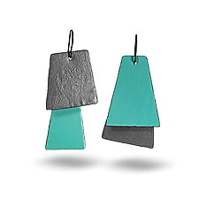 Color Block Earrings by Lou Ann Townsend and Mary Filapek (Copper Earrings)
