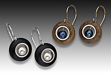 New Pearl Earrings by Eileen Sutton (Gold, Silver & Resin Earrings)