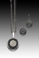 Single Carved Rose Jewelry by Eileen Sutton (Silver & Resin Jewelry)