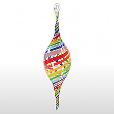 Rainbow Connection by Theo Keller (Art Glass Ornament)