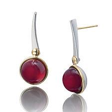 Garnet Dangle Earrings by Gabriel Ofiesh (Gold, Silver & Stone Earrings)