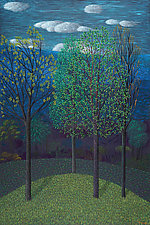 Trees on Blue by Jane Troup (Giclee Print)