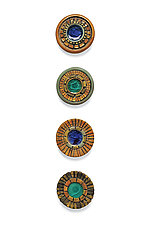 Wall Jewel Circles by Janine Sopp (Ceramic Wall Sculpture)