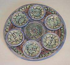 Mediterranean Sea Seder Set by Janine Sopp (Ceramic Seder Plate)
