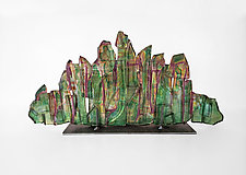 Dreamscape 97 by Mira Woodworth (Art Glass Sculpture)