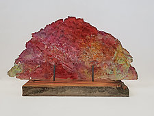 Dreamscape 134 by Mira Woodworth (Art Glass Sculpture)