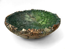 Verdant Valley by Mira Woodworth (Art Glass Bowl)