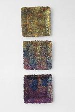Dahlia's Shadows by Mira Woodworth (Art Glass Wall Sculpture)