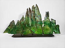 Dreamscape 107 by Mira Woodworth (Art Glass Sculpture)