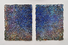 Cobalt Wall Sculpture Set by Mira Woodworth (Art Glass Wall Sculpture)