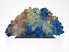 Dreamscape 110, Glen Alpine Falls by Mira Woodworth (Art Glass Sculpture)