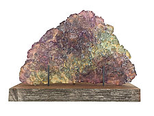 Dreamscape 130 by Mira Woodworth (Art Glass Sculpture)