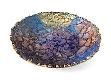 Lakeside Vessel by Mira Woodworth (Art Glass Bowl)