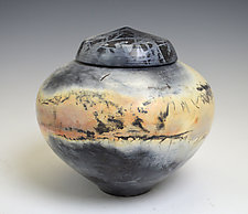 Ginger Urn by Judith  Motzkin (Ceramic Memorial Urn)