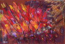 Suddenly Sumac by Joan Skogsberg Sanders (Pastel Painting & Giclee Print)