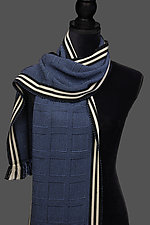 Beemer Squares Scarf by Pamela Whitlock (Bamboo Scarf)
