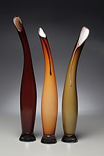 La Brezza - Summer Breeze in Opaque Colors by Victor Chiarizia (Art Glass Sculpture)