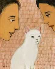 White Cat by Brian Kershisnik (Giclee Print)