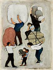 Everyone Is Carrying Stuff by Brian Kershisnik (Giclee Print)