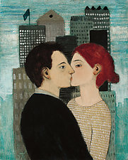 Lovers and a City by Brian Kershisnik (Giclee Print)