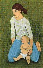 Mother and Child by Brian Kershisnik (Giclee Print)