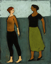Deux Conversations by Brian Kershisnik (Giclee Print)