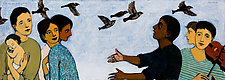 The Reunion and Sparrows by Brian Kershisnik (Giclee Print)