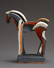 Tri-color Earthenware Series, Red Wish by Jeri Hollister (Ceramic Sculpture)