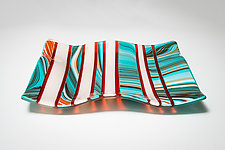 Southwest Stripe Orange by Carol Green (Art Glass Platter)