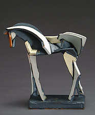 Light Slips Earthenware Series, After the Race by Jeri Hollister (Ceramic Sculpture)