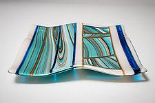 Southwest Aqua by Carol Green (Art Glass Platter)