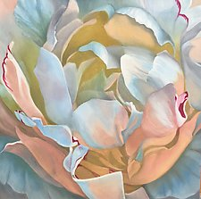 Pastel Peony by Barbara Buer (Oil Painting)