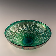 Forest Bowl by Richard S. Jones (Art Glass Bowl)