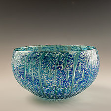 Water Droplet Bowl by Richard S. Jones (Art Glass Bowl)