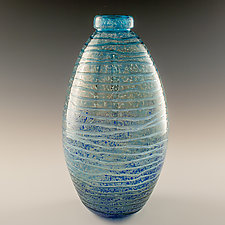 Wave Bottle by Richard S. Jones (Art Glass Vase)