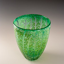 Forest Vessel by Richard S. Jones (Art Glass Vessel)