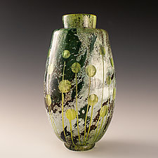Green Dot Vase by Richard S. Jones (Art Glass Vase)
